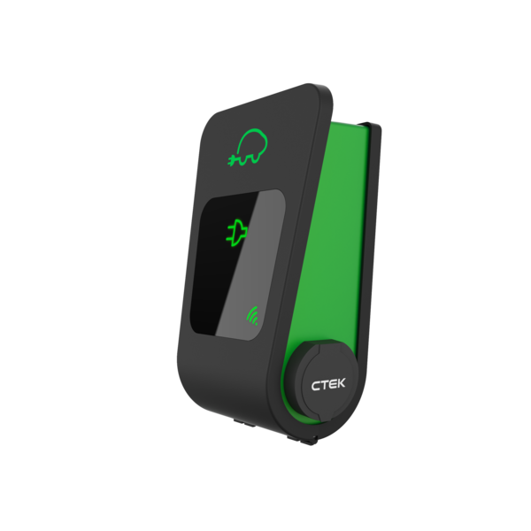 Ctek chargestorm connected 2 grön med dubbla uttag (profil)