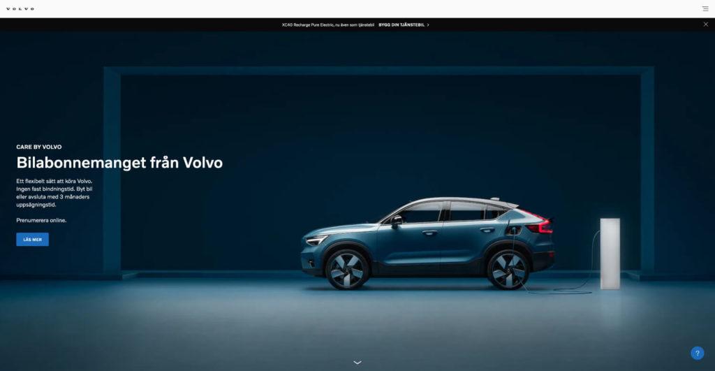 Care By Volvo privatleasing av elbil