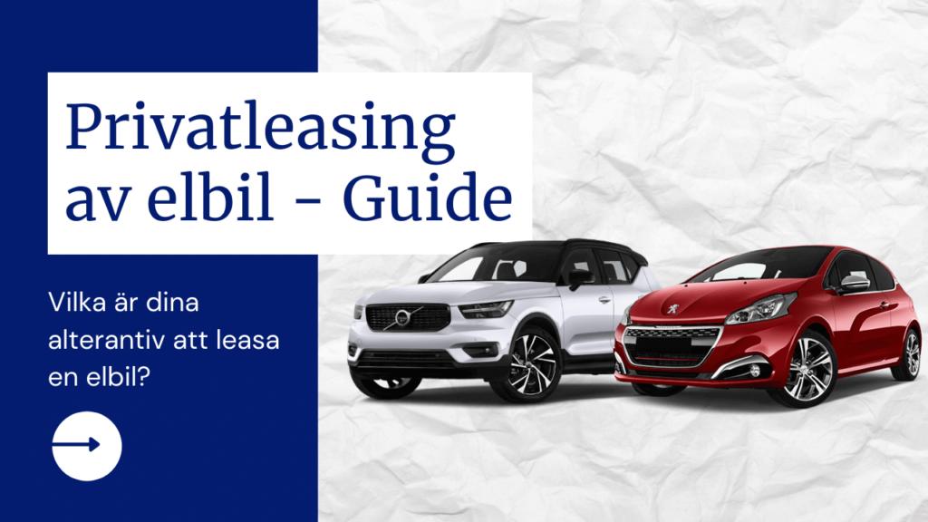 Privatleasing elbil - En guide: Teaser