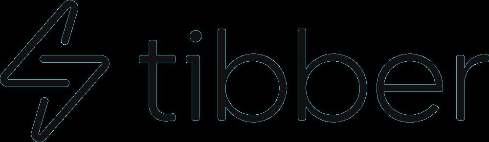 Tibber laddbox logotyp i svart