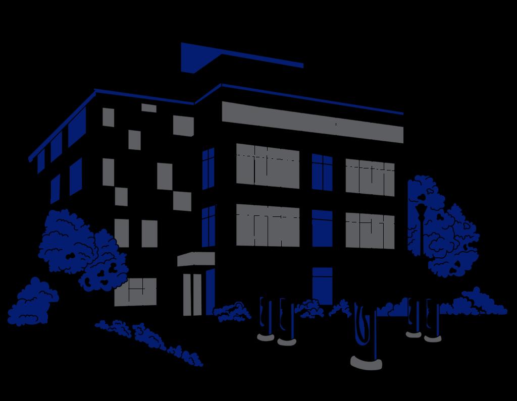 Illustration företag och 5 laddstolpar