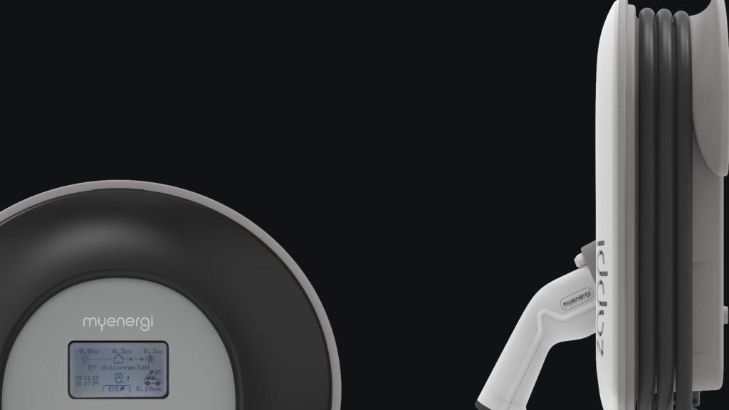 zappi v2 vit färg på svart bakgrund